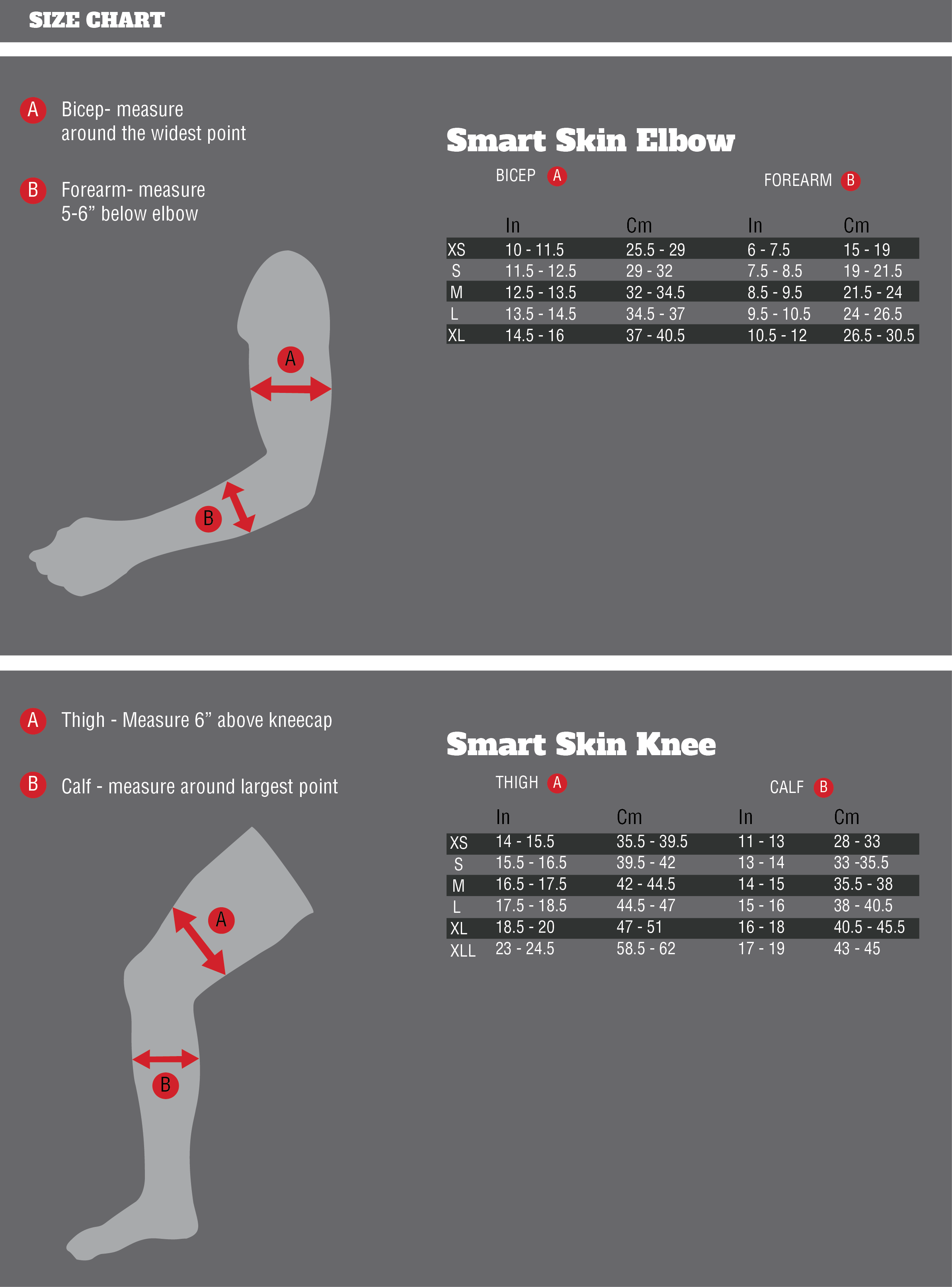 Size Chart Demon Smart Skin