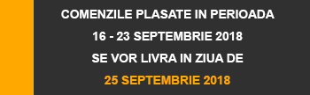Livrare in 25 Septembrie